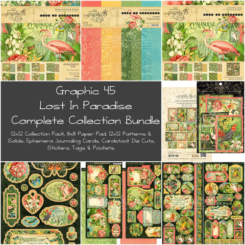 Graphic 45 - Lost in Paradise Complete Collection Bundle