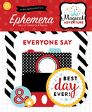 Echo Park - Magical Adventure Ephemera Die Cuts, 33 Pieces (Disney)