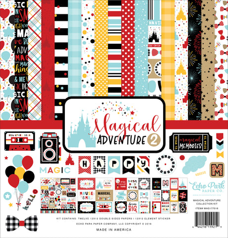 Echo Park - Magical Adventure 2 12x12 Collection Kit (Disney, Amusement Park)