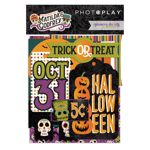 Photo Play - Matilda and Godfrey (Halloween) Ephemera Die Cuts, 26 pieces