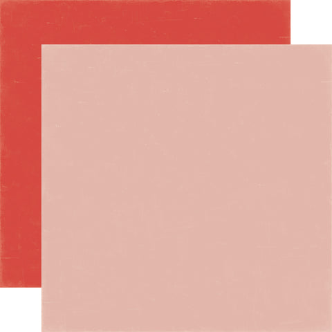 Echo Park - 12x12 PINK/RED Cardstock, 2 sheets #MW96018