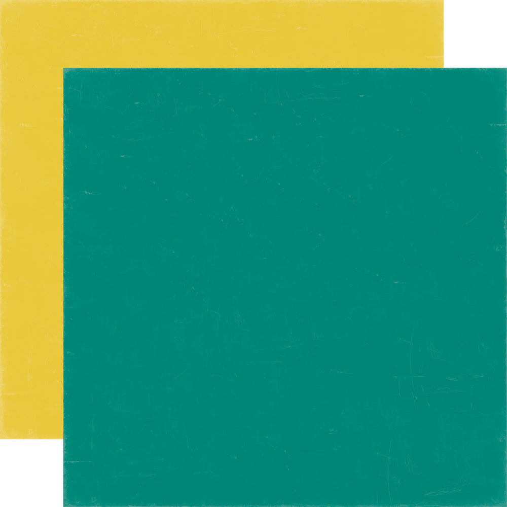 Echo Park - 12x12 TEAL/YELLOW Cardstock, 2 sheets #MW96019