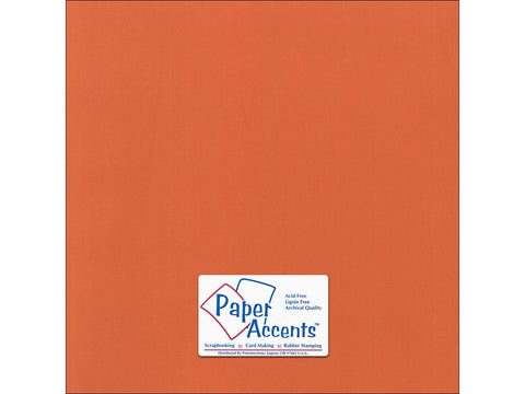 Paper Accents - Mandarin Canvas 12x12 Cardstock 2 sheets #80