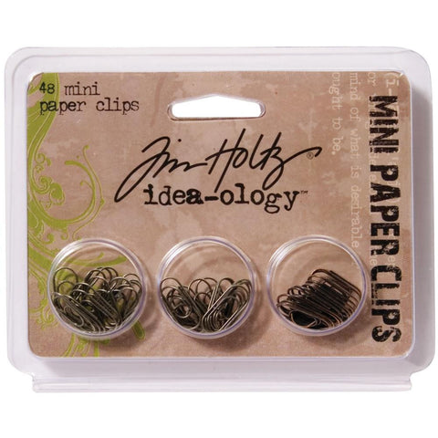 Tim Holtz idea-ology Mini Paper Clips, 48 pieces