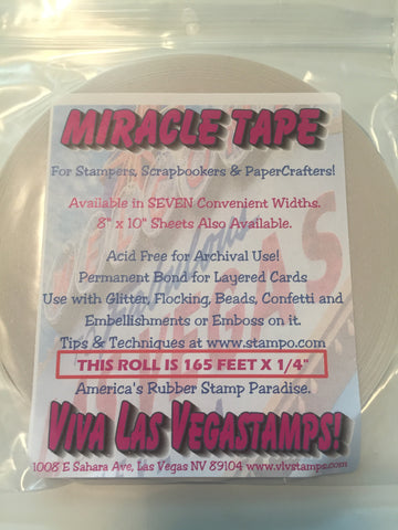 "Miracle Tape - 1/4"" x 165 feet (55 YARDS), Double-Sided Tape"