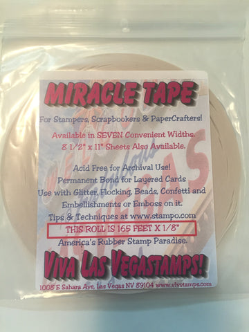 "Miracle Tape - 1/8"" x 165 feet (55 yards), Double-Sided Tape"