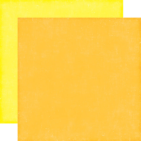 Echo Park - 12x12 Orange / Yellow Cardstock, 2 sheets #PC103018