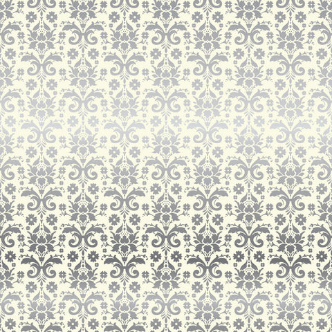 Echo Park - (2) 12x12 Damask Foil Single Sheets