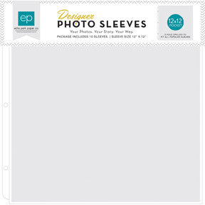 Designer Photo Sleeve 10 pkg. 12x12 pocket, SAVE 50%