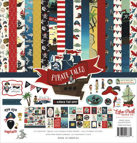 Echo Park - Pirate Tales 12x12 Scrapbook Collection Kit