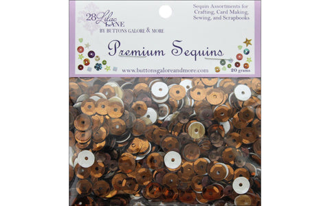 28 Lilac Lane - Paw Power Sequins - 20 grams (brown, copper, white)