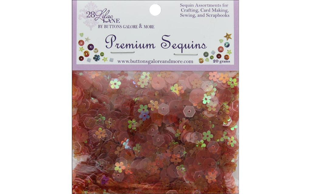 Buttons Galore 28 Lilac Lane - Poppy Fields Sequins
