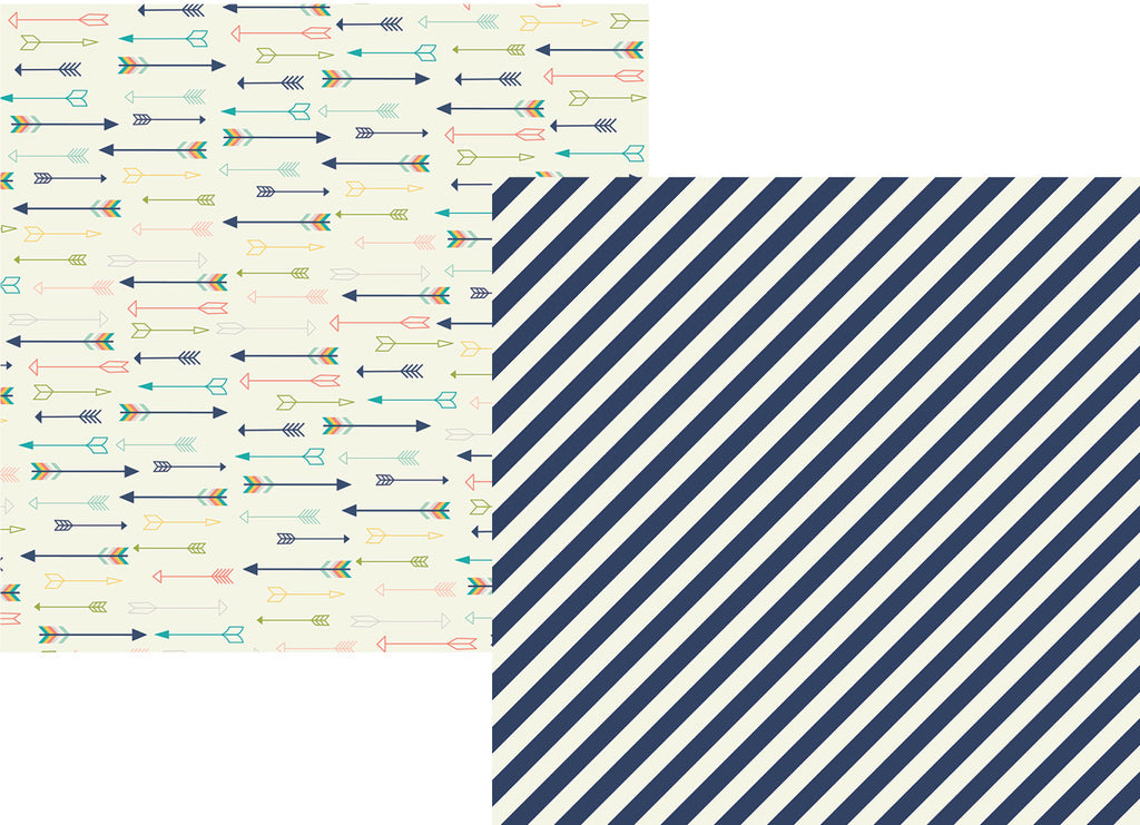 Simple Stories - POSH, Carpe Diem 12x12 #6709 Simply Amazing (Stripe & Arrows)
