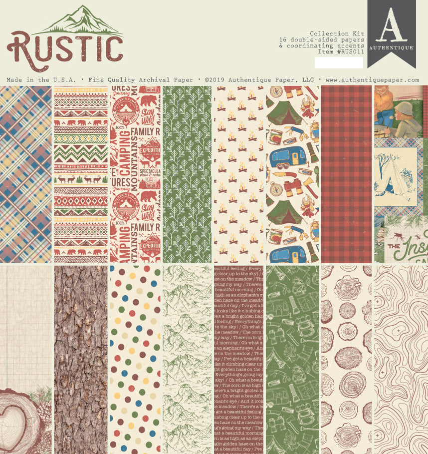 Authentique - Rustic 12x12 Paper Pad (Forest, Camping)