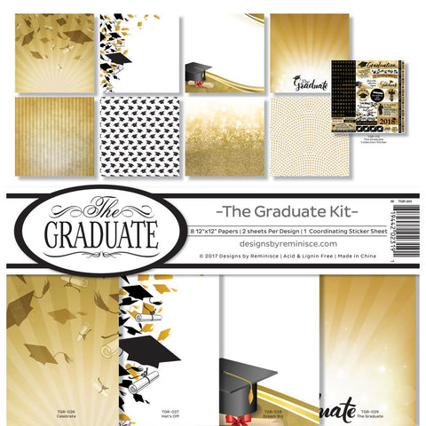 Reminisce - The Graduate 12x12 Scrapbook Page Kit (Graduation)