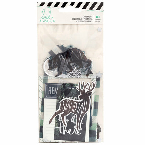 Heidi Swapp - Wolf Pack Cardstock Ephemera Die Cuts with Foil Accents