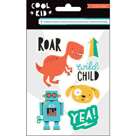Crate Paper - Cool Kid Collection - Rubber Accents