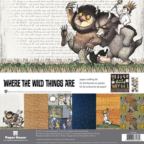 Paper House - Where the Wild Things Are 12x12 Paper Crafting Kit