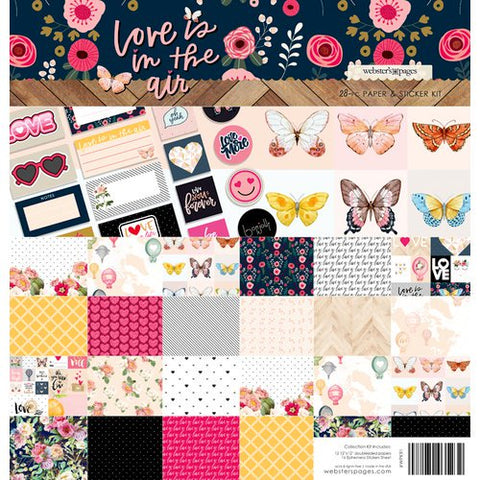 Webster's Pages - Love is in the Air Collection - 12 x 12 Collection Kit