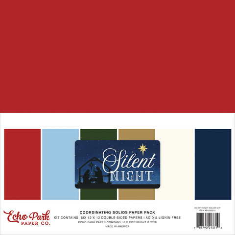 Echo Park - Silent Night 12x12 Coordinating Solids Paper Pack (Christmas)