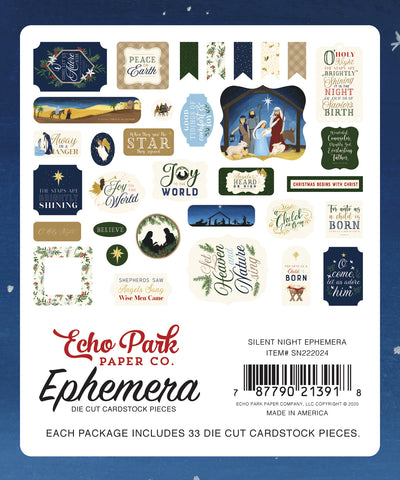 Echo Park - Silent Night Collection Ephemera Die Cuts (Christmas, Christian)