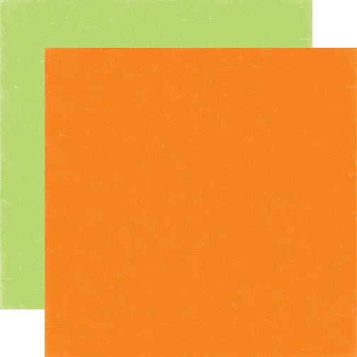 Echo Park - 12x12 Orange / Lime Green Cardstock, 2 sheets #SP106108