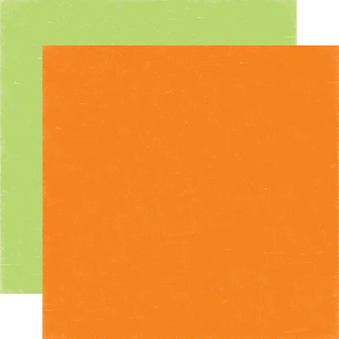 Echo Park - 12x12 Orange / Lime Green Cardstock, 25 sheets #SP106108