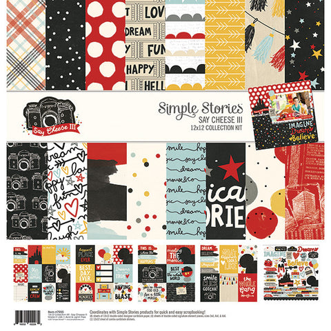 Simple Stories - Say Cheese III 12x12 Scrapbook Collection Kit, Disney