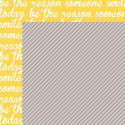 Bella Blvd. - Color Chaos Scallop Strandz 12x12 Scrapbook Paper (Yellow/Gray)