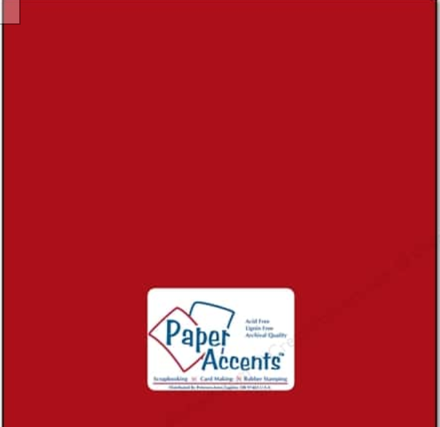 Paper Accents - Schoolhouse Red #89 12x12 Smooth Cardstock