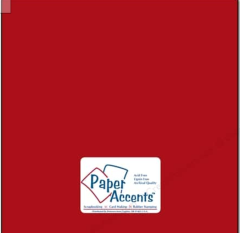 Paper Accents - Schoolhouse Red #89, 25 sheets 12x12 Smooth Cardstock