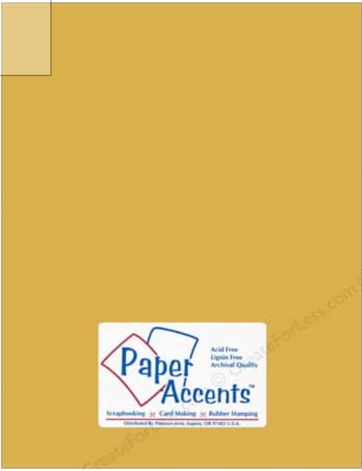 Paper Accents - Dusty Gold Smooth Cardstock One Sheet 12x12 #75