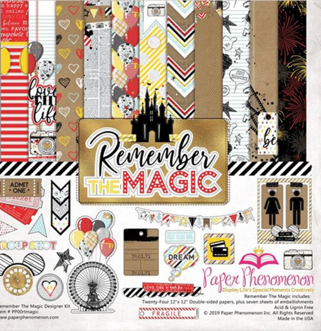 Paper Phenomenon - Remember the Magic 12x12 Scrapbook Collection Kit (Disney, Amusement Park)