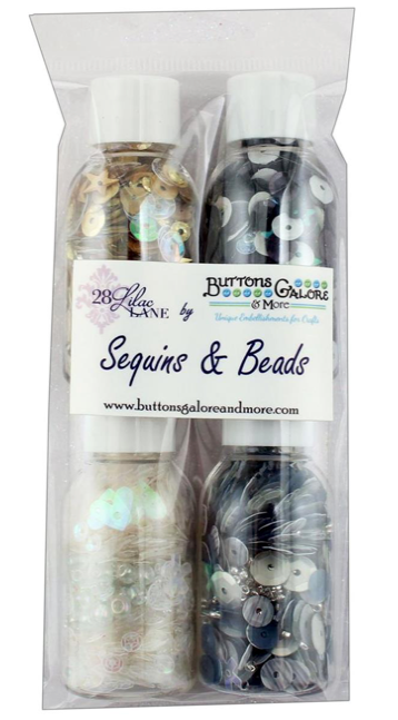 Buttons Galore 28 Lilac Lane - Celebration Sequins (4 bottles)