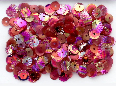Buttons Galore 28 Lilac Lane - Wine Sequins (1 Tbsp.)