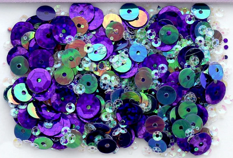 Buttons Galore 28 Lilac Lane - Grape Sequins (1 Tbsp.)