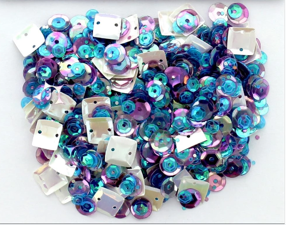 Buttons Galore 28 Lilac Lane - Gemstone Sequins (1 Tbsp.)