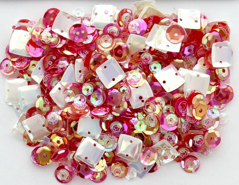 28 Lilac Lane - Fruity Sequins (1 Tbsp.) - (pink, coral, gold, white squares)