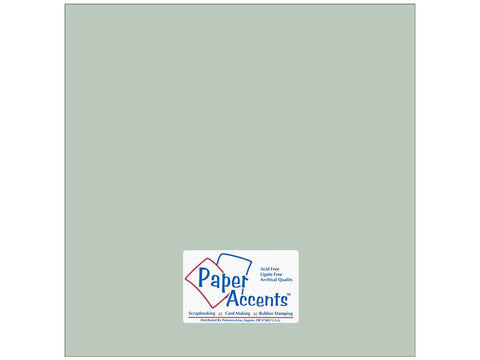 Paper Accents - 2 sheets Smooth Sea Salt 12x12 Cardstock, #18029
