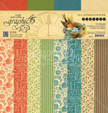 Graphic 45 - Seasons 12x12 Scrapbook Patterns/Solids Paper Pad, Spring, Summer, Autumn, Winter