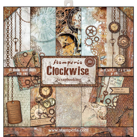 Stamperia - Clockwise 12x12 Scrapbook Paper Pack