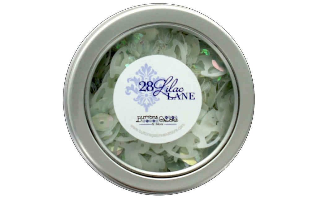 28 Lilac Lane - Storks Arrival Tin (white, iridescent, Baby)