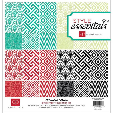 Echo Park - Style Essentials 12x12 Patterned Paper Pack