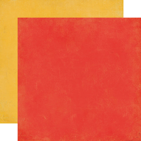 Echo Park - 12x12 Red / Yellow Cardstock, 2 sheets #TP90018