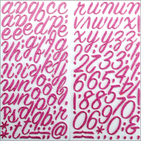 American Crafts - Thickers - Rainboots Pink Glitter Foam Alphabet 132 pieces