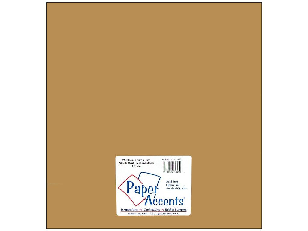 Paper Accents - 25 sheets Toffee 12x12 Smooth Cardstock, #125 (Stash Builder)