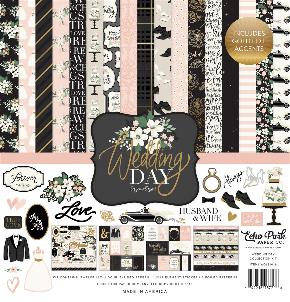 Echo Park - Wedding Day 12x12 Collection Kit