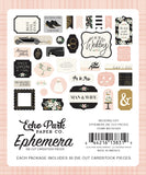 Echo Park - Wedding Day Ephemera Icon Die Cuts, 33 pieces