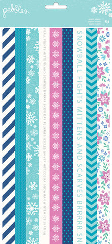 Pebbles - Washi Paper Tape - Winter Wonderland