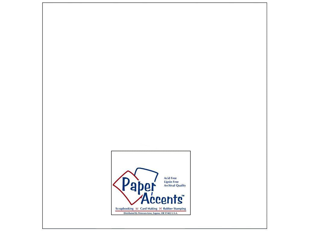 Paper Accents - 50 sheets White 12x12 Smooth Cardstock, #128